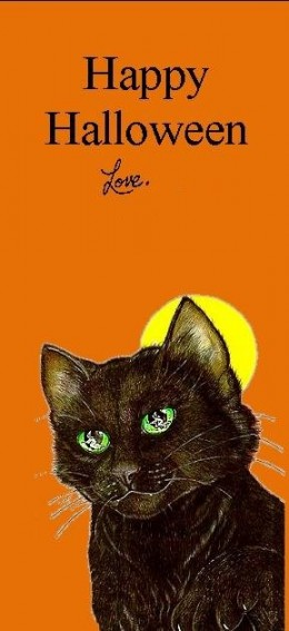 Halloween Bookmark black cat